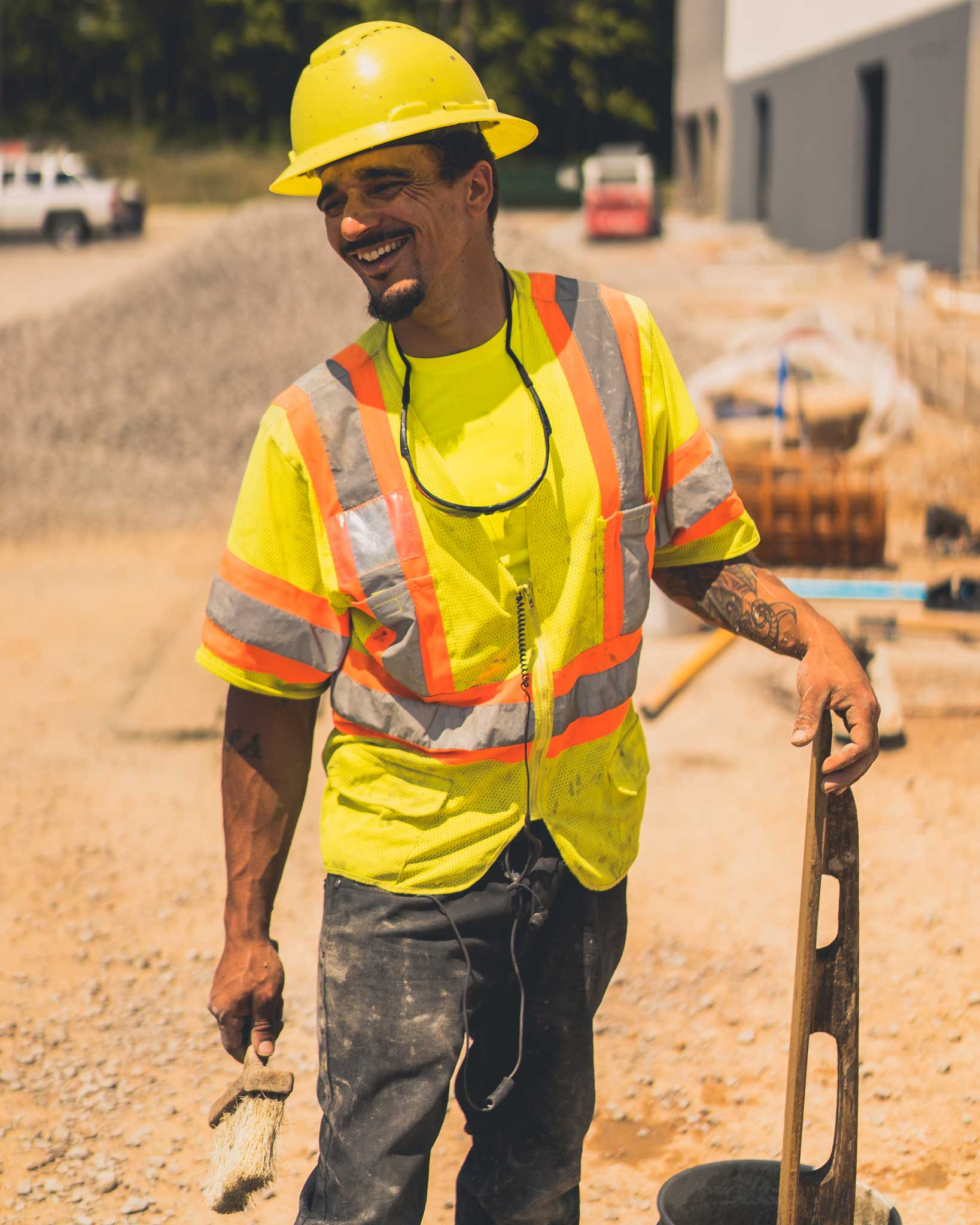 CDCI Happy Construction Employee