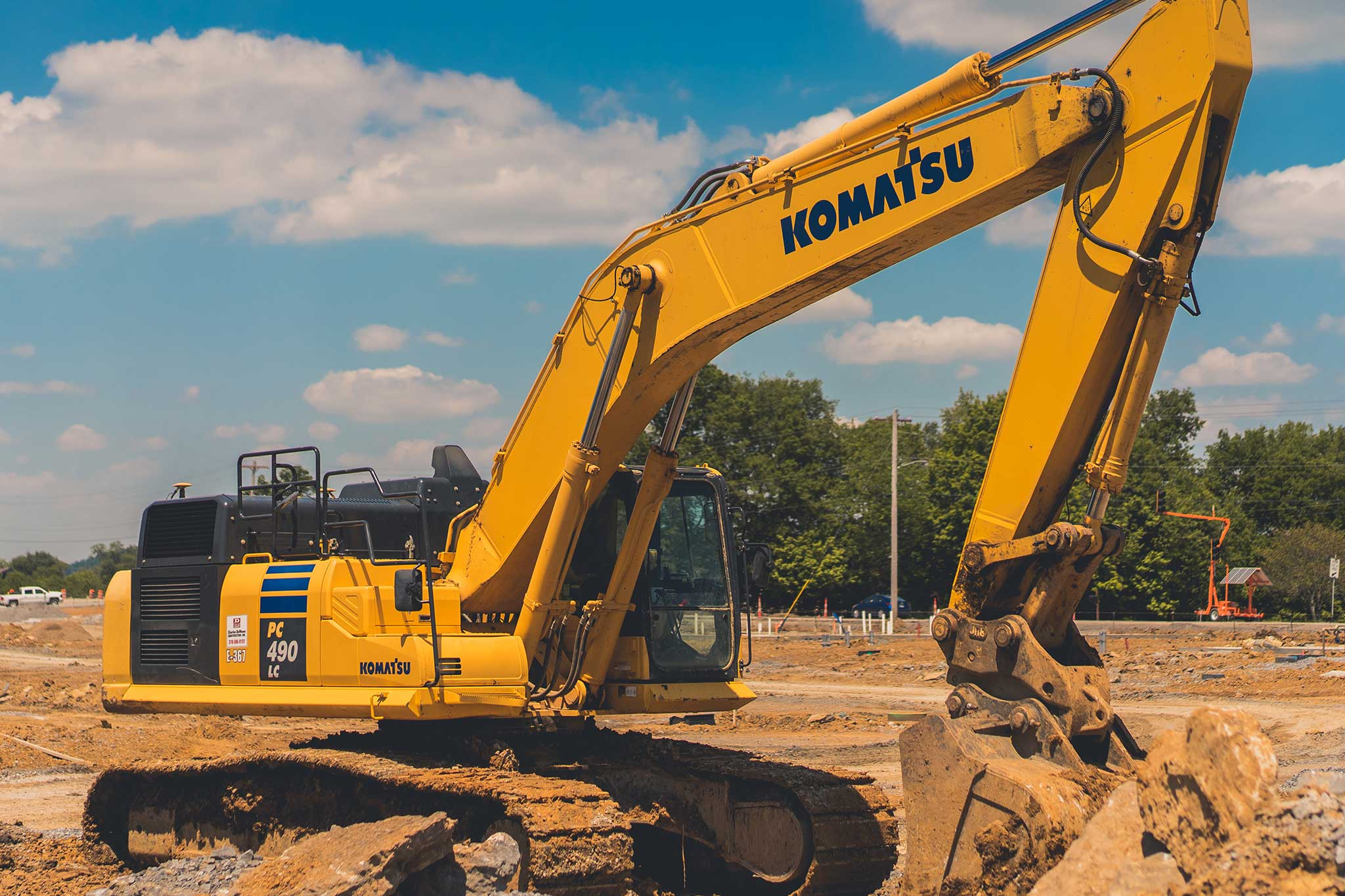 CDCI Excavator performing Site Development Construction Services